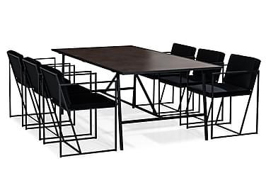 Dipali Spisebordssæt med 6 Indy Stol