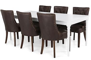 Erin Spisebordssæt 200 cm med 6 Tuva Lænestol