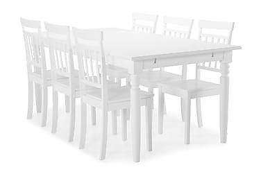 Hampton Spisebord med 6 stk Hudson Stole