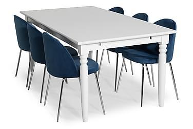 Hampton Spisebordssæt 190 med 6 Felipe Stol Velour