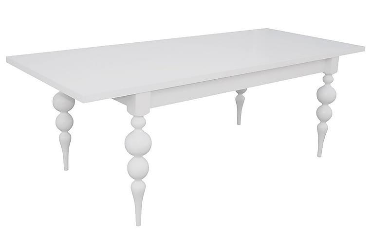 Jaska Spisebordssæt - Hvid - Møbler - Spisebordssæt - Rektangulært spisebordssæt