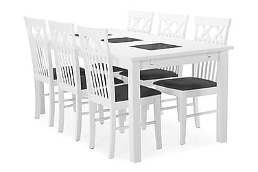 Jasmin Spisebord med 6 stk Rebecka Stole