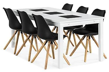 Jasmin Spisebordssæt med 6 stk Forum Stole