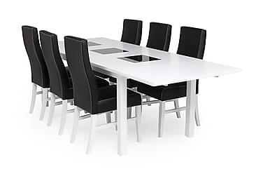 Jasmin Spisebordssæt med 6 stk Mazzi Stole