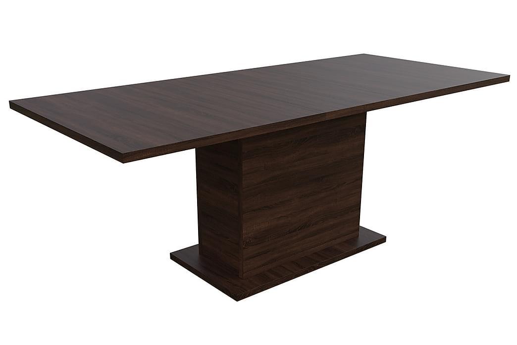 Kadja Spisebordssæt - Mørkebrun - Møbler - Spisebordssæt - Rektangulært spisebordssæt