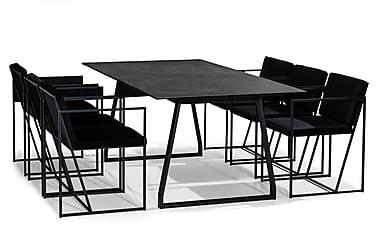 Kaj Spisebordssæt 200 cm med 6 Indy Stol