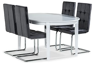 Läckö Spisebord Udvideligt Med 4 st Jessed Spisestole