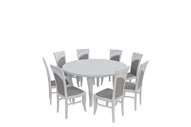 Letala Spisebordssæt - Grå - Møbler - Spisebordssæt - Rektangulært spisebordssæt