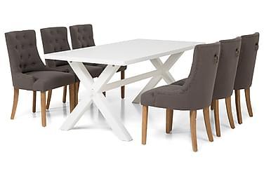 Linnea Spisebordssæt 180 cm Hvidlakeret
