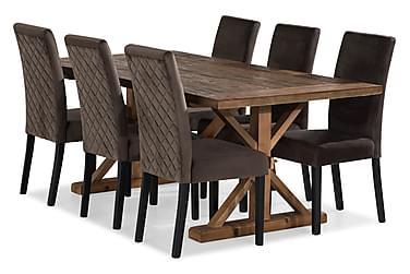 Lyon Spisebordssæt 200x100 cm med 6 st Mazzi Stol