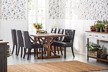Lyon Udvideligt Spisebordssæt 200 cm med 6 Tuva Stol