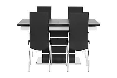 Macahan Spisebordssæt 140 cm + 4 Wyeth Stol