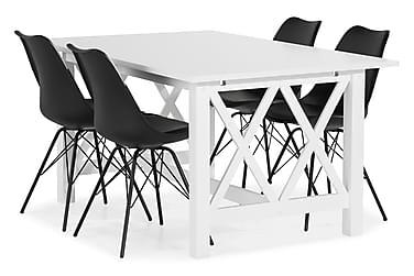 Milla Spisebordssæt med 4 Shell Stol