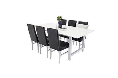 Naomi Spisebordssæt med 6 Rosanna Stole