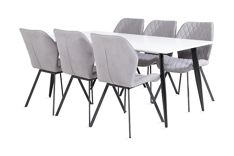 Pontus Spisebord 180 cm med 6 Sumoas Spisebordsstol - Møbler - Spisebordssæt - Rektangulært spisebordssæt