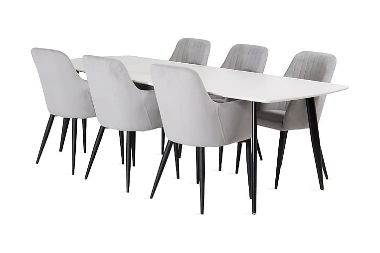 Pontus Spisebord med Casper Stol 6 stk - Møbler - Spisebordssæt - Rektangulært spisebordssæt
