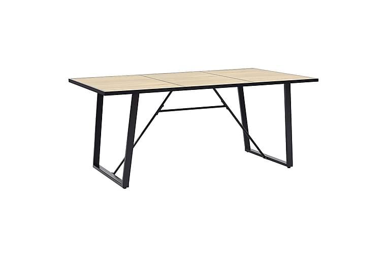 Spisebordssæt 11 Dele Kunstlæder Sort - Sort - Møbler - Spisebordssæt - Rektangulært spisebordssæt