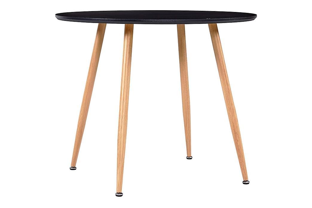 Spisebordssæt 5 Dele Kunstlæder Bordeaux - Rød - Møbler - Spisebordssæt - Rektangulært spisebordssæt