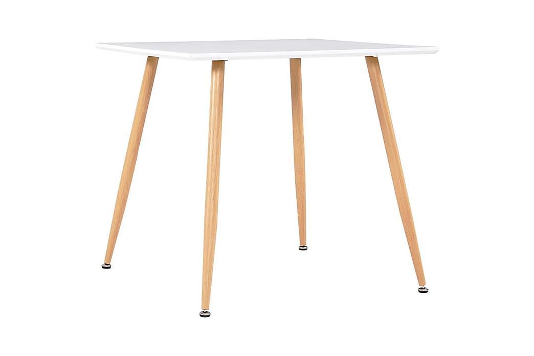 Spisebordssæt 5 Dele Stof Brun - Brun - Møbler - Spisebordssæt - Rektangulært spisebordssæt