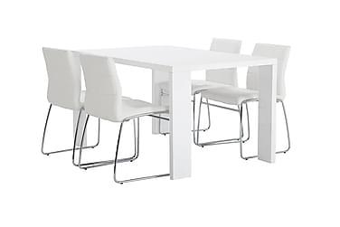 Thora Spisebordssæt 140 cm + 4 Tirza Stol