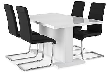 Zion Spisebordssæt 160x40cm m. 4 Cibus Stole