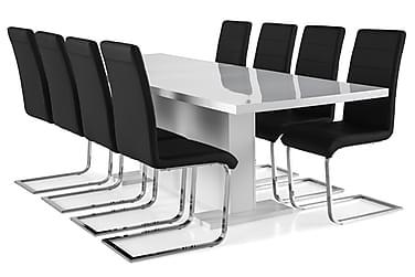 Zion Spisebordssæt 200x40cm m. 8 Cibus Stole