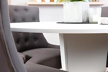 Cubic Spisebordssæt 120 cm Hvid