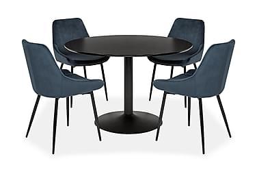 Oslo Spisebordssæt Rund med 4 Theo Stole