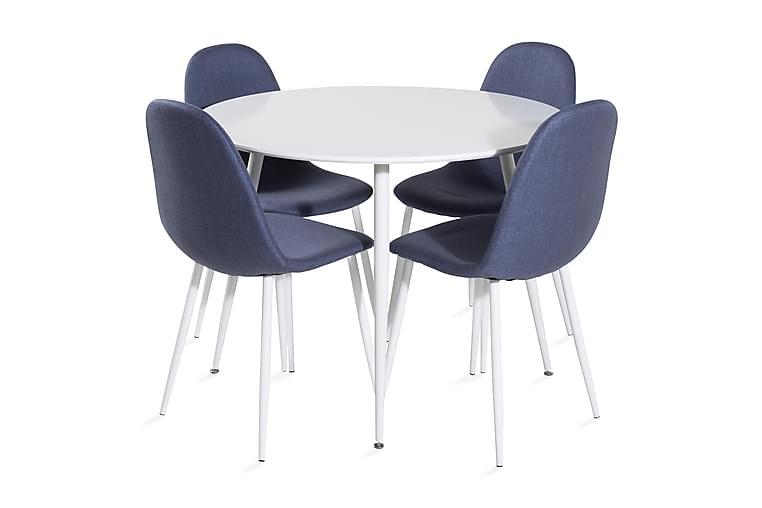 Ridones Spisebord rundt med 4 Ypas Spisebordsstol - Møbler - Spisebordssæt - Rundt spisebordssæt