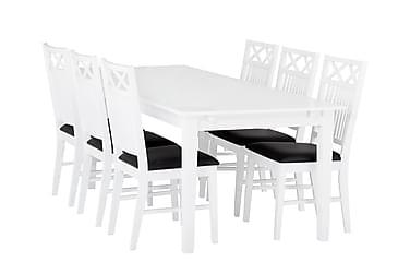 Matsbo Spisebord 180 cm med 6 Stole