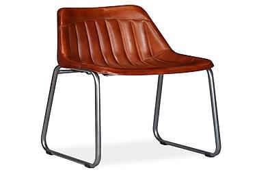 Spisebordsstole 6 Stk. Ægte Læder Med Striber Brun
