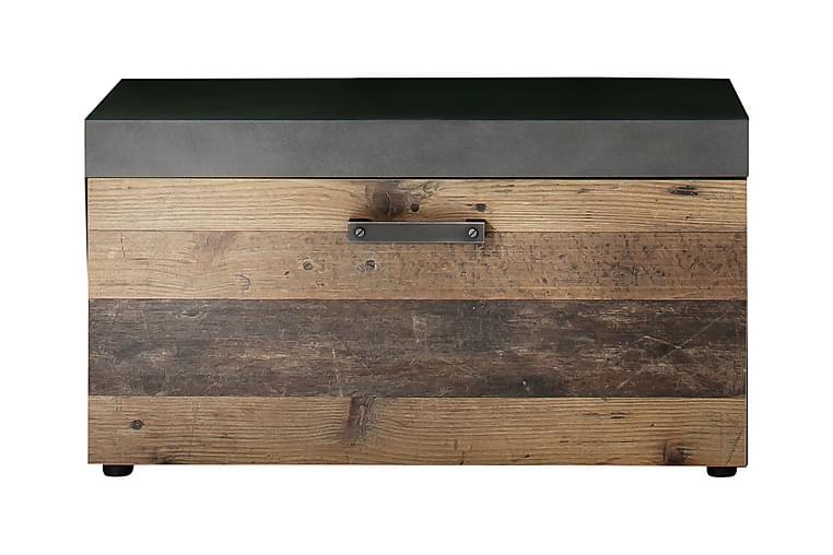 Asciano sidebænk m Opbevaring 80 cm - Grå - Boligtilbehør - Små møbler - Bænk