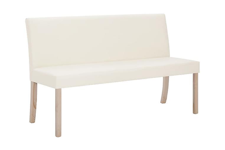 Bænk I Kunstlæder 139,5 Cm Cremefarvet - Creme - Boligtilbehør - Små møbler - Bænk