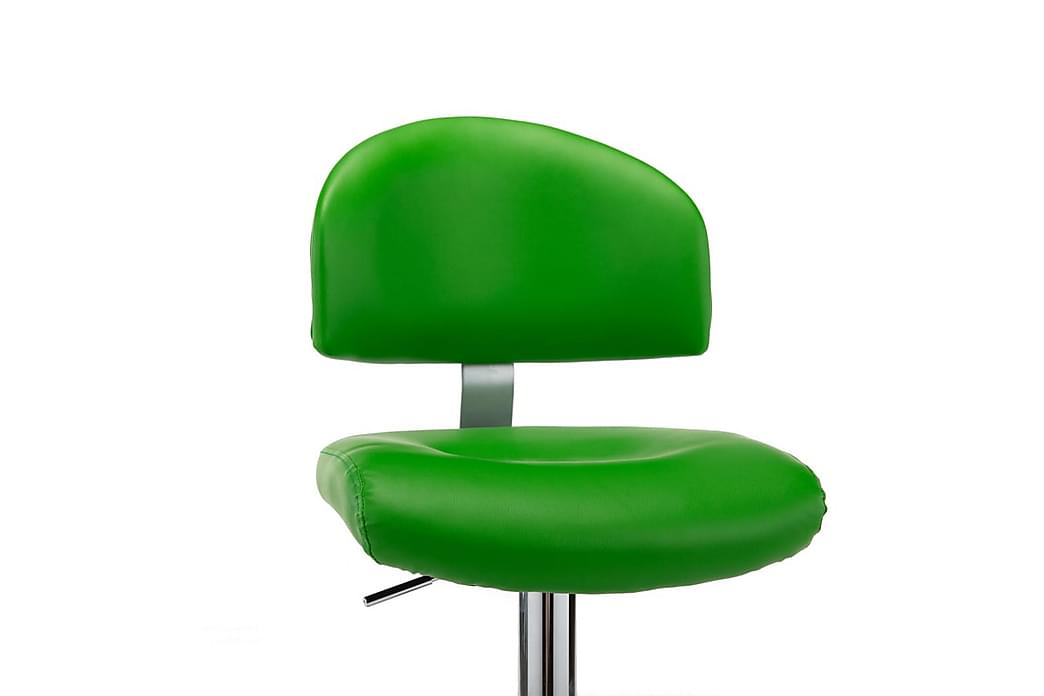 Barstole 2 Stk. Kunstlæder Grøn - Grøn - Møbler - Stole - Barstole