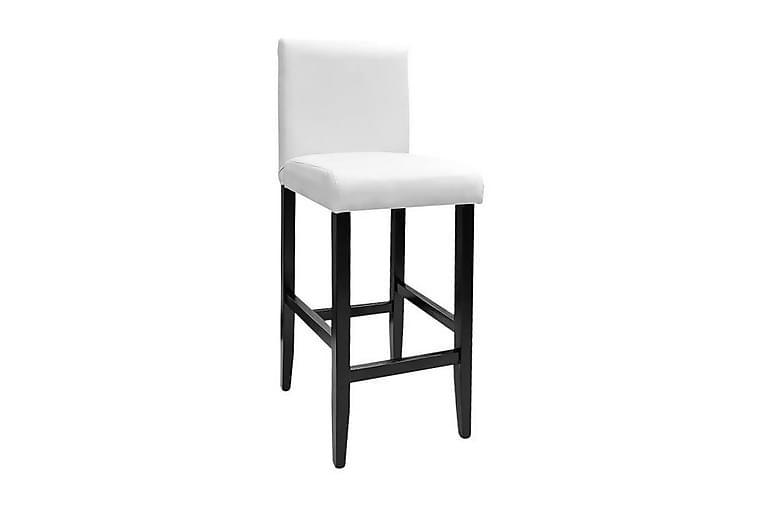 Barstole 2 Stk. Kunstlæder Hvid - Hvid - Møbler - Stole - Barstole