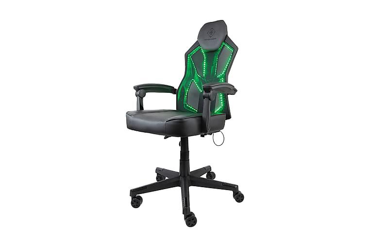 Deltaco Gaming Gamingstol RGB belysning Sort - Deltaco Gaming - Møbler - Stole - Kontorstole & skrivebordsstole