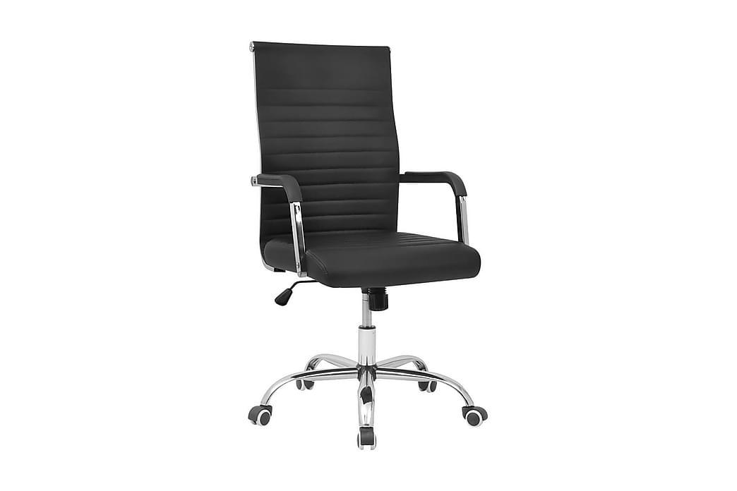 Kontorstol Kunstigt Læder 55 X 63 Cm Sort - Sort - Møbler - Stole - Kontorstole & skrivebordsstole