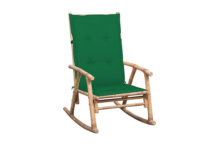 Gyngestol Med Hynde Bambus - Brun - Møbler - Stole - Roterende stole
