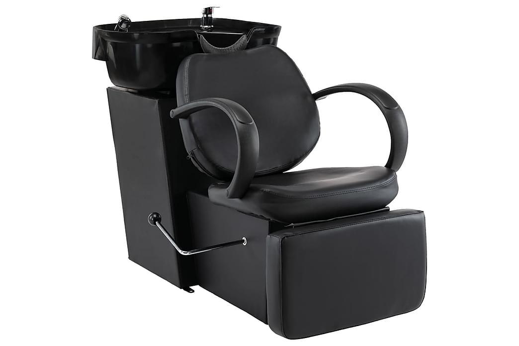 Salonstol Med Vask Kunstlæder Sort - Sort - Møbler - Stole - Roterende stole