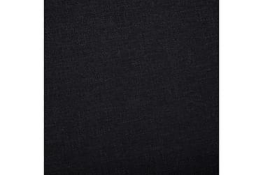 Bænk Med Opbevaringsrum 116 Cm Polyester Sort