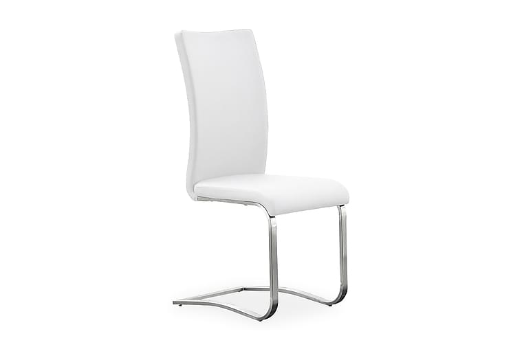 Arco Spisebordsstol Læder - Hvid/Stål - Møbler - Stole - Spisebordsstole & køkkenstole