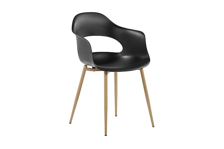 Delica Stol 2 stk - Sort - Møbler - Stole - Spisebordsstole & køkkenstole
