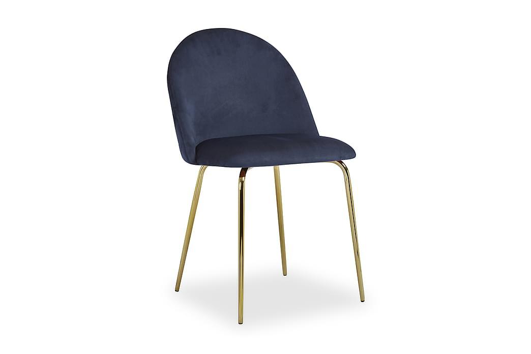 Elba køkkenstol - Blå/messing - Møbler - Stole - Spisebordsstole & køkkenstole