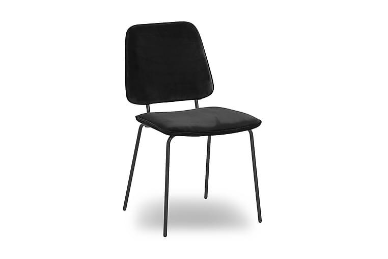 Idril Spisebordstol Velour - Sort - Møbler - Stole - Spisebordsstole & køkkenstole