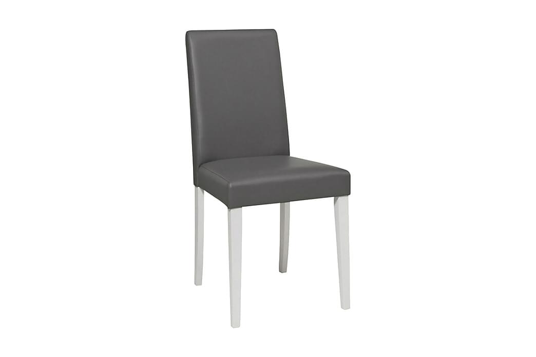 Manya spisebordsstol kunstlæder 2 stk. - Grå/hvid - Møbler - Stole - Spisebordsstole & køkkenstole