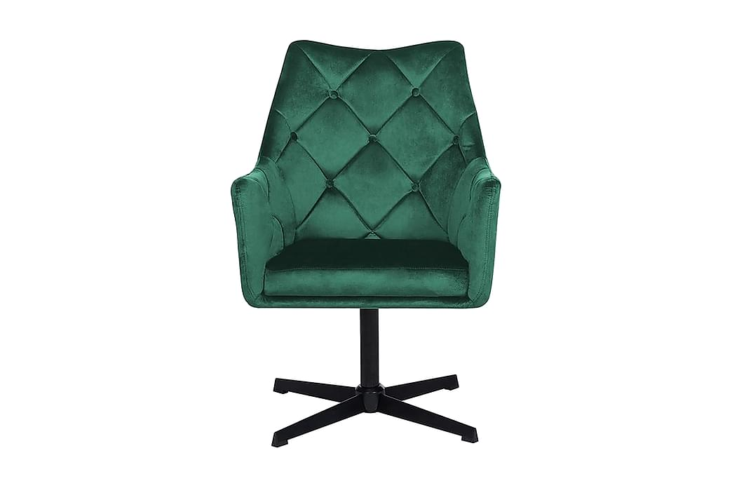 Najor Stol Velour - Grøn - Møbler - Stole - Spisebordsstole & køkkenstole