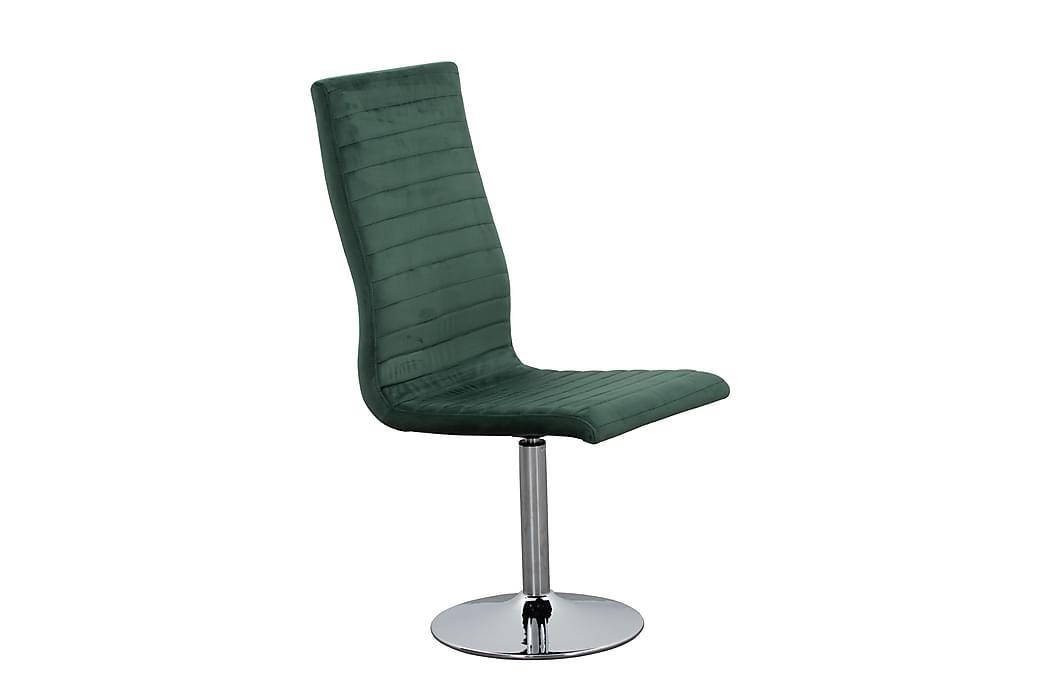 Spisebordsstol 4 stk velour grøn - Grøn - Møbler - Stole - Spisebordsstole & køkkenstole