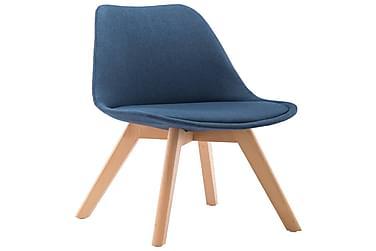 Spisebordsstole 2 Stk. Stof Blå