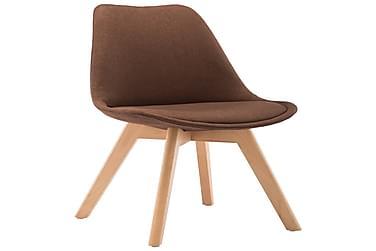 Spisebordsstole 2 Stk. Stof Brun