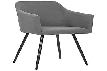 Spisebordsstole 2 Stk. Stof Lysegrå